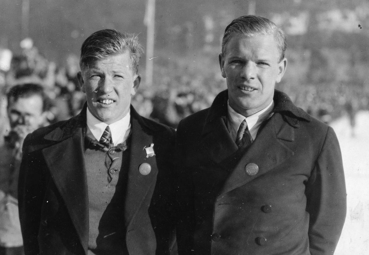 Birger og Sigmund Ruud i Holmenkollen 1920-tallet