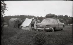 Sommarferien 1961. Leirplass ved Levanger. Frå venstre Trond