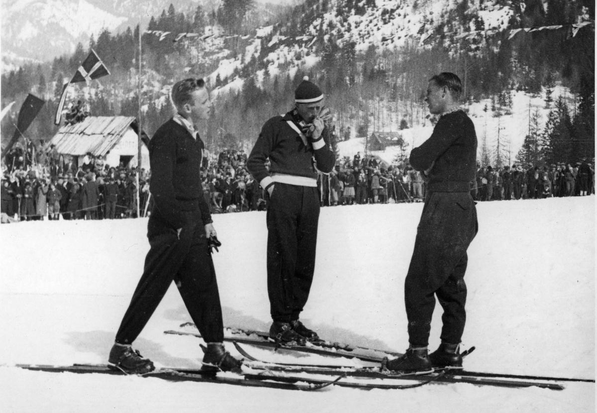 Kongsberg skier Olav Ulland at Planica 1934