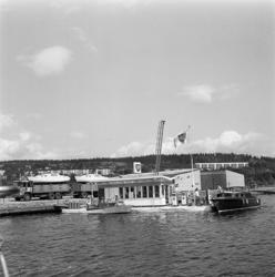 BP-station i småbåtshamnen i Ortviken.
