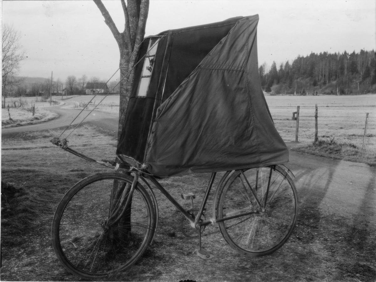 Cykel-kupé att användas vintertid.