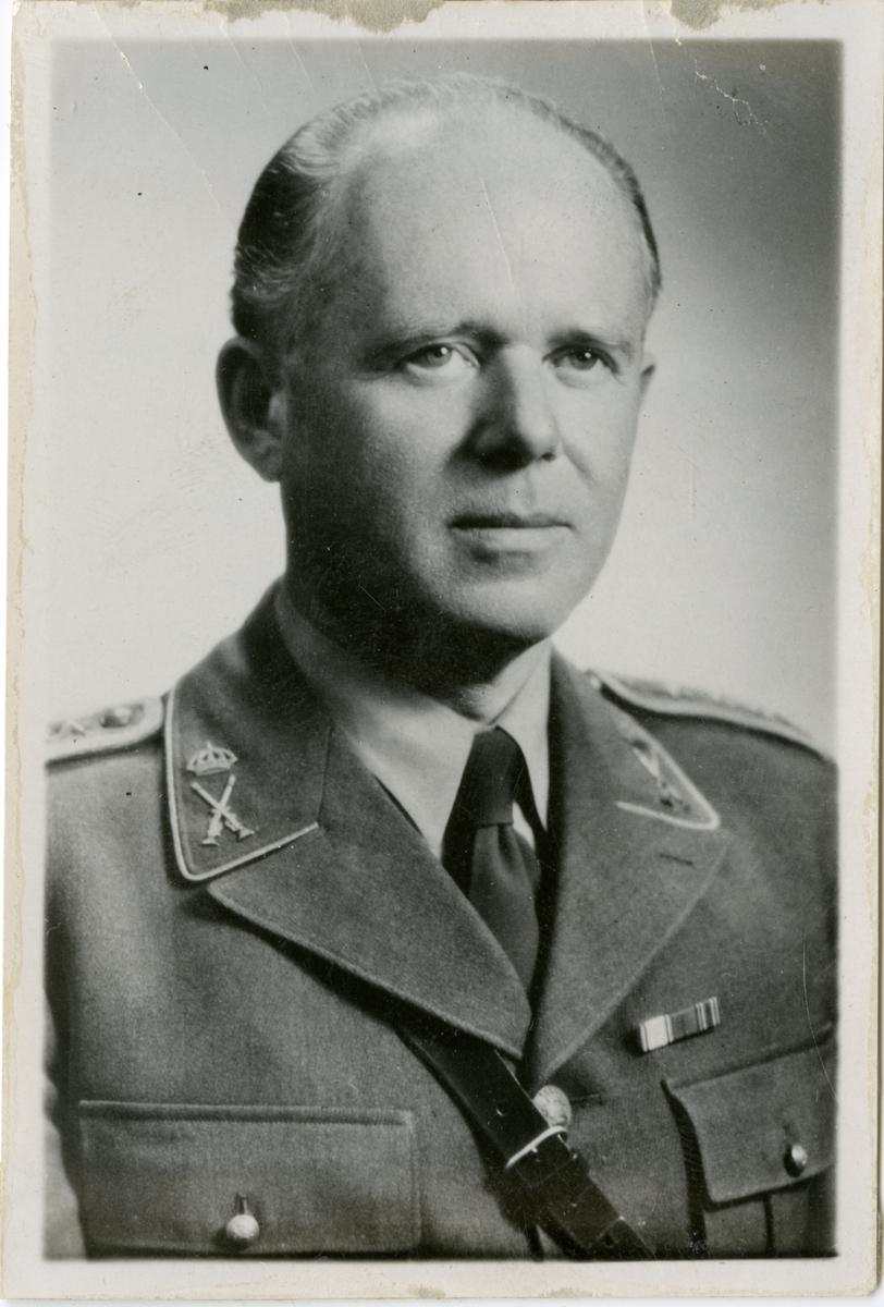 Porträtt av Karl Gunnar Berggren,överste och chef vid Gotlands infanteriregemente I 18.