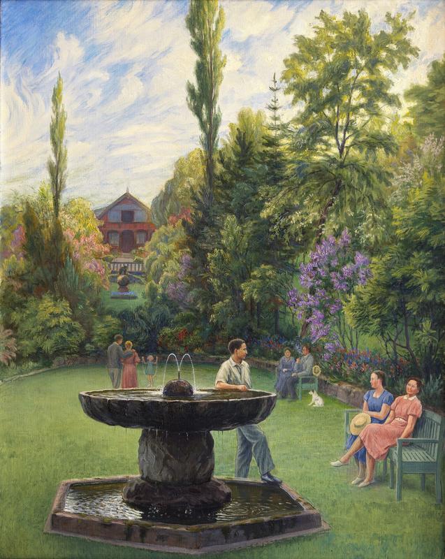 Hagefesten av Otto Valstad