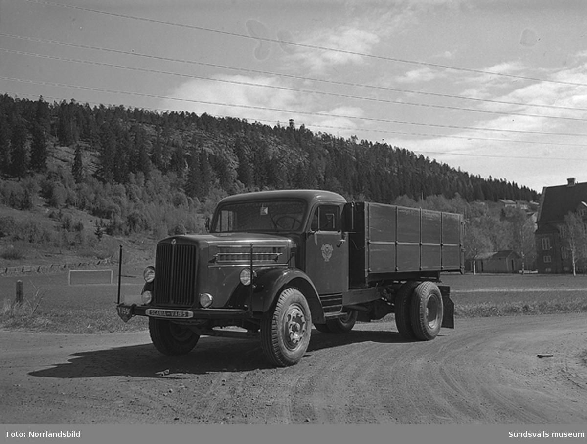 Lastbil fotograferad vid Västhagen.