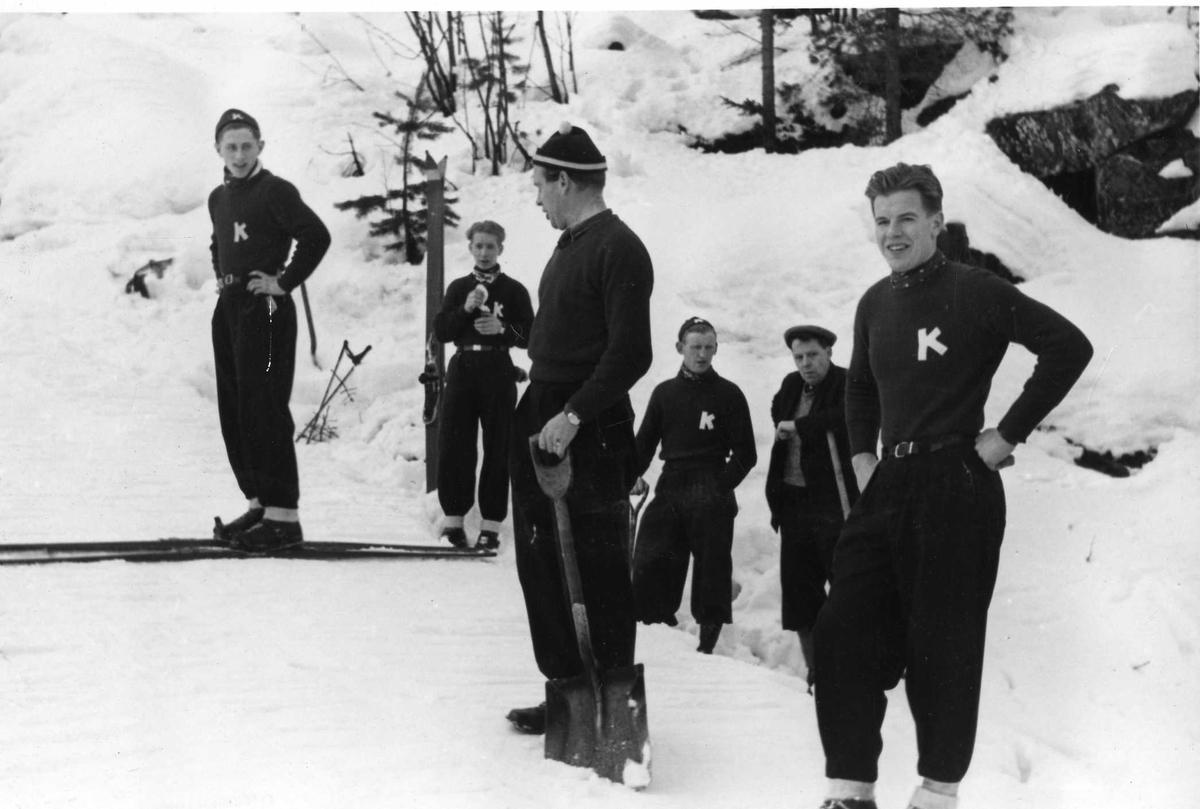 Kongsberg skiers in Hannibalbakken