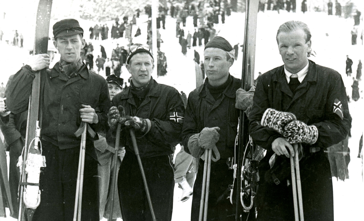 Norwegian skiers at Garmisch 1936