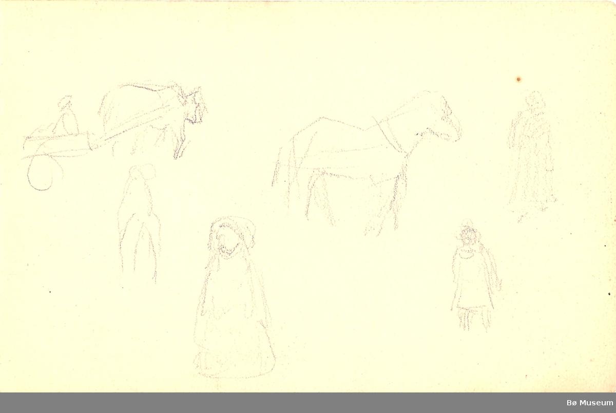 Landskap, hest og folk