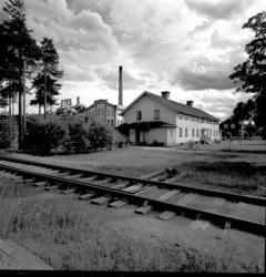 Exteriörbilder från Matfors pappersbruk. Fabriken, herrgårde