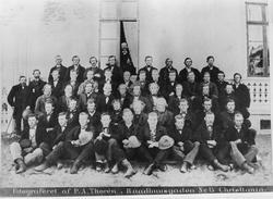 Møte i Fet Skydeforening på Tunnerud, 1860.