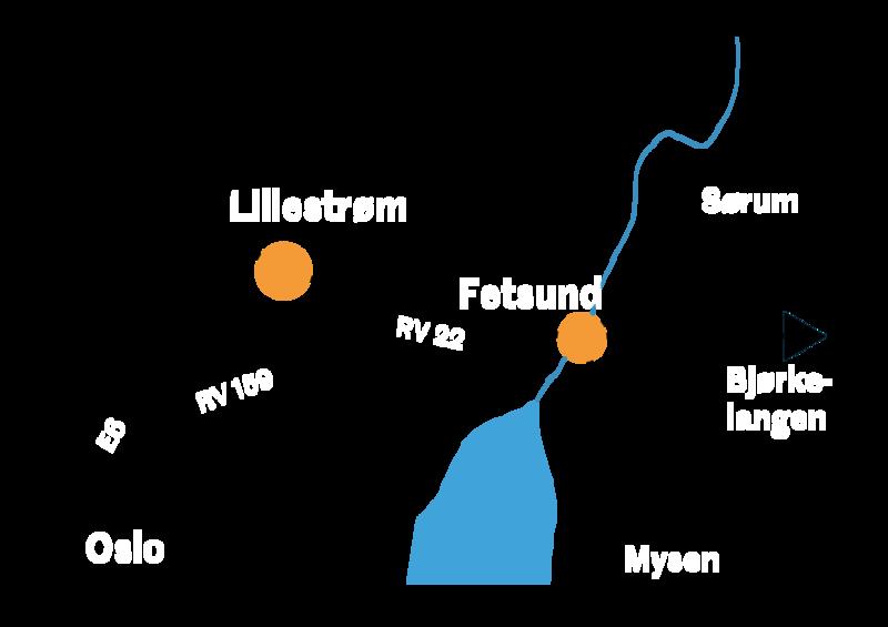 Kart som viser adkomst til Fetsund lenser (Foto/Photo)