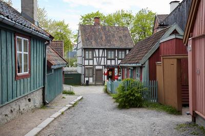 Hus fra Enerhaugen og Hammersborg på Norsk Folkemuseum. Foto/Photo