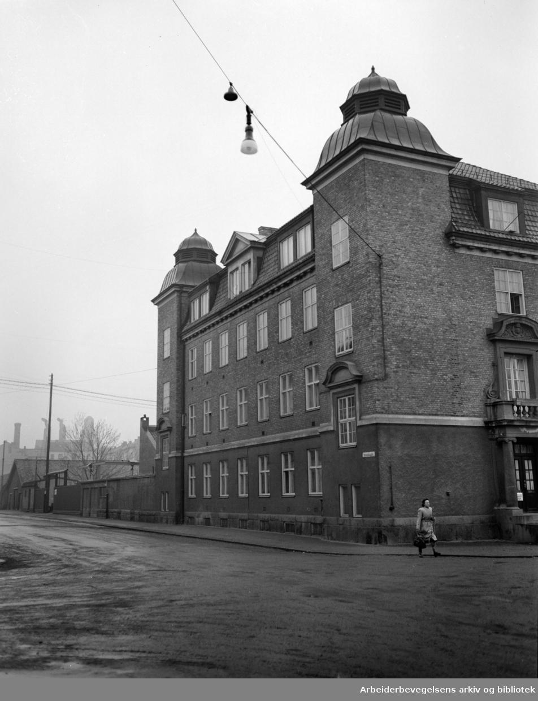 Helserådets desinfeksjonsanstalt i Heimdalsgata 14, april 1950