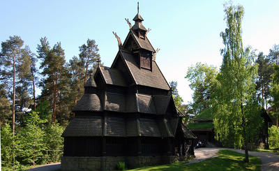 Stave Church at Norsk Folkemuseum