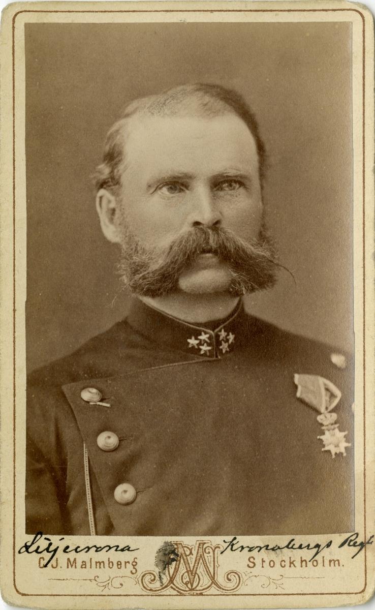 Porträtt av Adam Florus Lilljecrona, kapten vid Kronobergs regemente I 11.