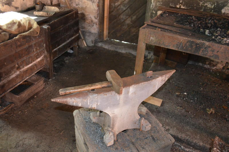 The anvil was one of the blacksmith's most important tools.