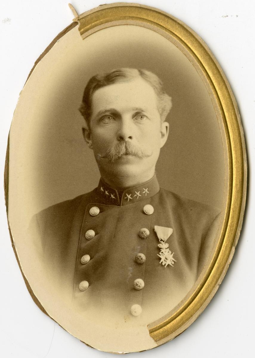 Porträtt av Axel Fredrik von Matern, major vid Generalstaben.