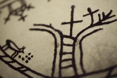 Detalj, runebomme. Foto/Photo