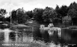 "Postkort: "";Kristiansund N. Rolighetsdammen. Eneret: G. Sver"