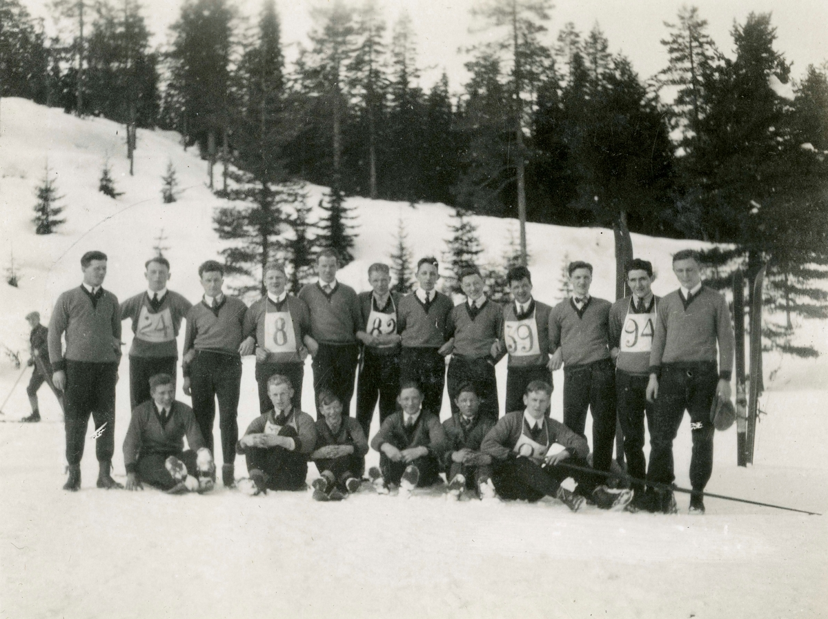 Kongsberg skiers during local competition