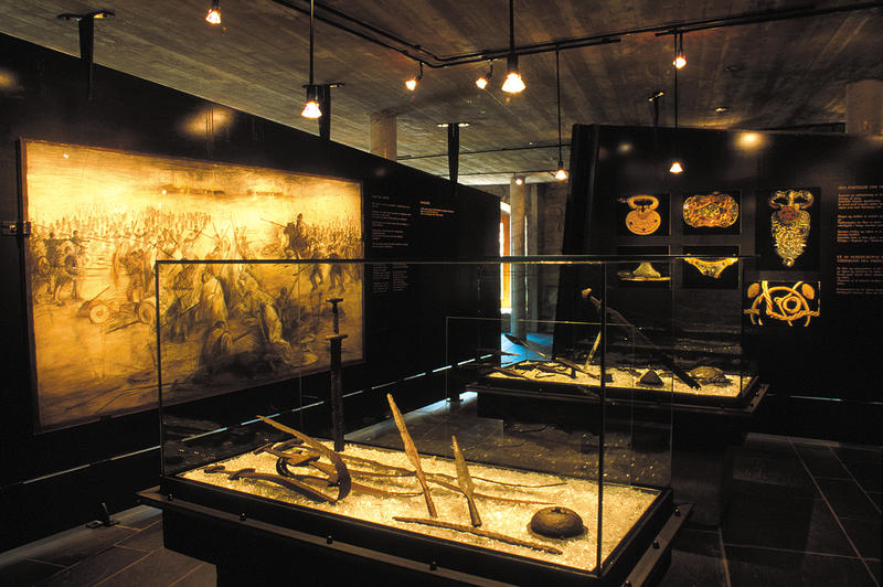 Swords, harness, boilers, jewellery and other exciting findings are on display in our museum.