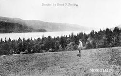 Utsikt over Storsjøen fra Strand i Ytre Rendal