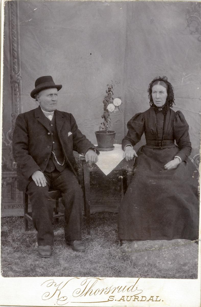 Alf Olsen Listrud og kona Ingrid.