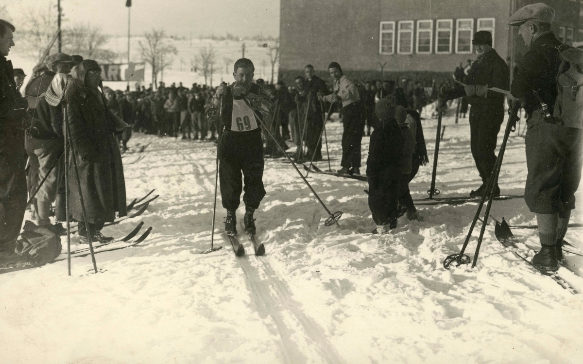 Athlete Birger Ruud during cross-country skiing