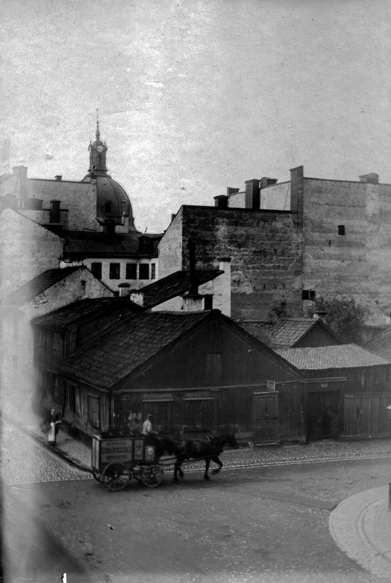 Linnegatan 1901. Fotograf Alfred Bergendahl. Givare H Bergendahl.