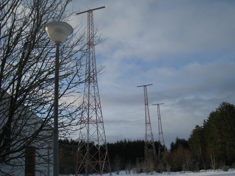 Master og antenner. Vigreskogen, Rogaland radio senderstasjon (Foto/Photo)