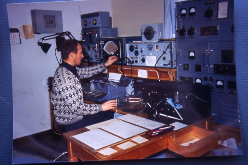 Radiostasjon. Ny-Ålesund ekspedisjonsplass