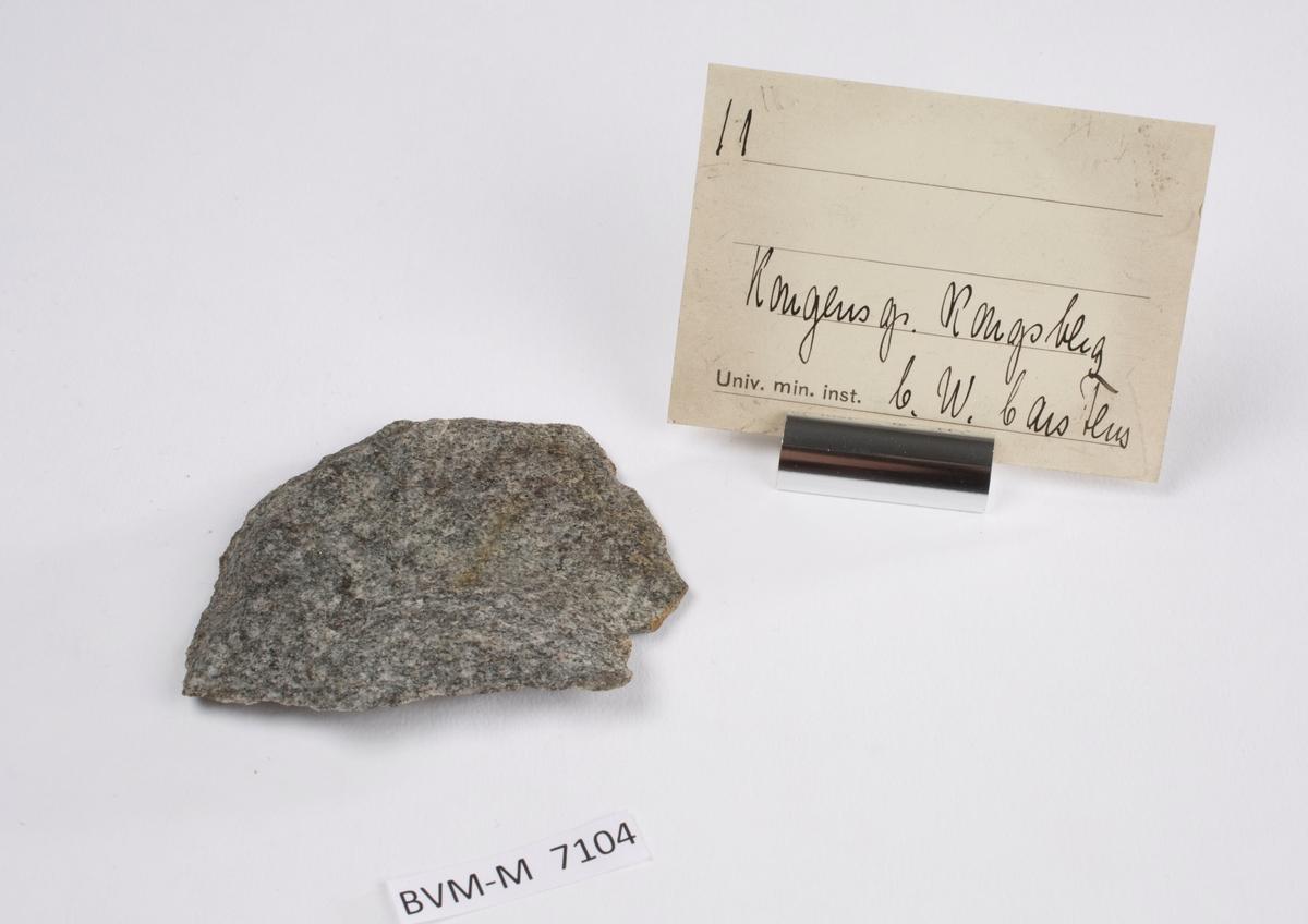 Etikett i eske: 11.  Kongens gr. Kongsberg C.W. Carstens