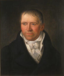 Portrett av Diderik von Cappelen. Mørk drakt, Hvit skjorte, vest og halsbind.