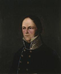 Portrett av Rosenkilde. Sort stathauptmannuniform, høy krave m/gullstriper, uten ordener. (Foto/Photo)