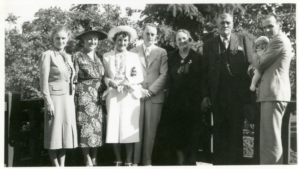 Familien Syverud og Wold avbildet i Minneapolis 12. juni 1938