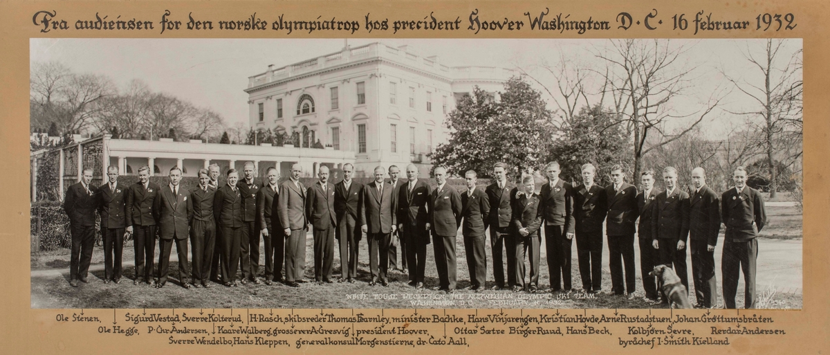 From the reception of the Norwegian Olympic Team by President Hoover
