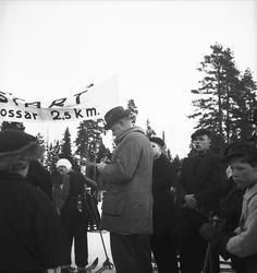 Februari 1938. Fettisdagstävling skidåkning.