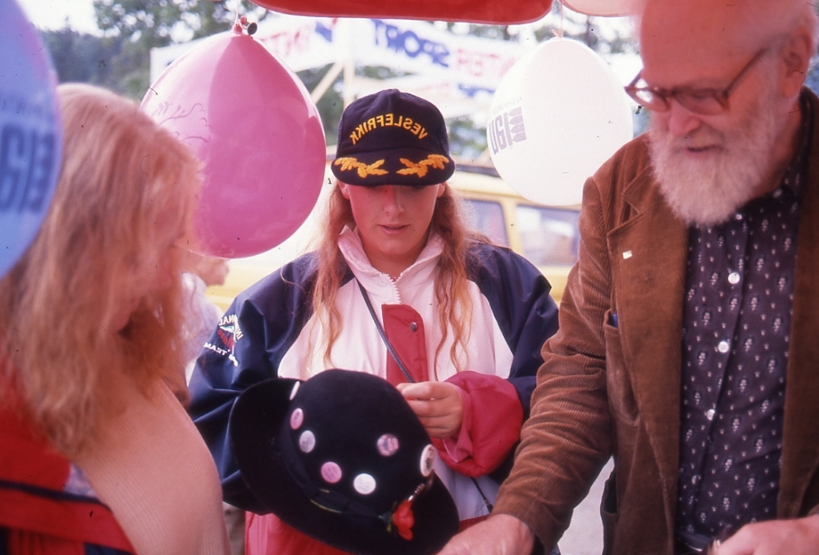 Ole Koppreitan, for fjerde året på rad, med Nei til Atomvåpen-standen sin