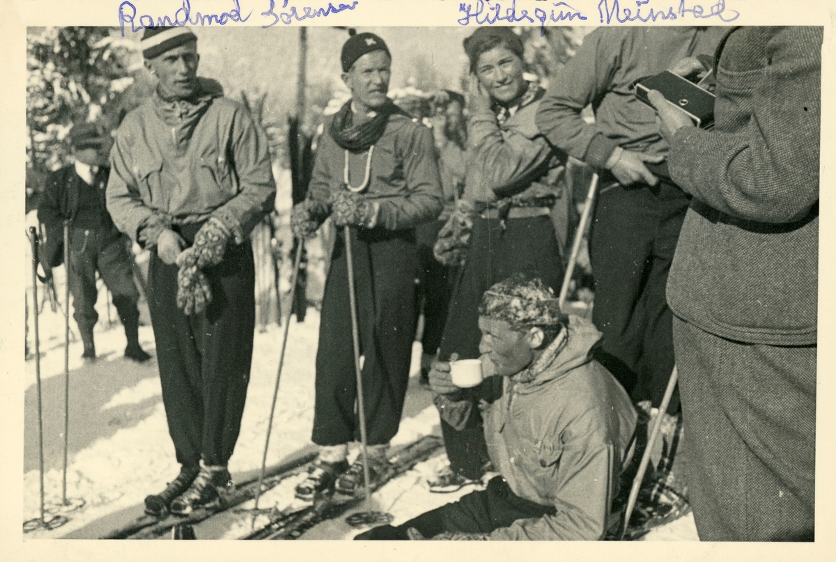 Norwegian downhill skiers at Garmisch