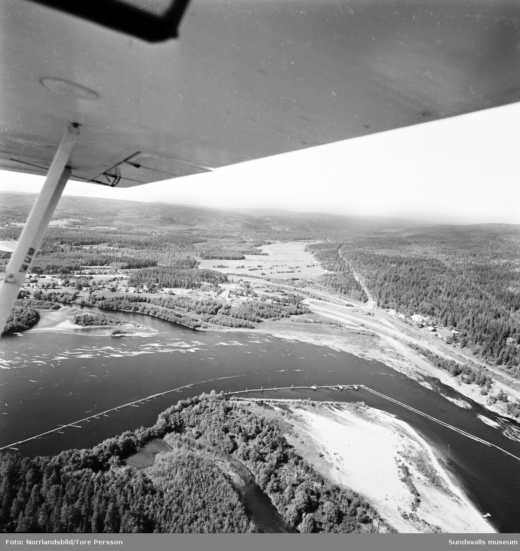 Flygfoto över Stavreviken taget norrut.