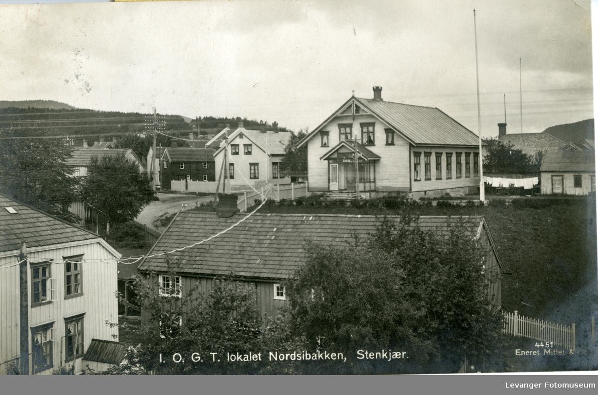 Postkort av I.O.G.T lokalet i  Nordsibakken Steinkjer.