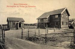 Postkort.  Akerhaugstuen og Ylistuen fra Telemark. Telemarks