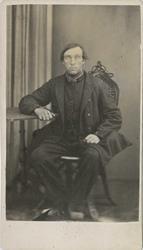 Fangeportrett. Johan Evensen Flettum, Drammen, arrestert i 1