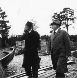 Prins Wilhelm besöker Utvalnäs i samband med sitt Gävlebesök