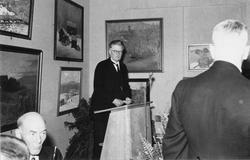 Ett bland många lyckönskningstal vid invigningen av Gävle Mu