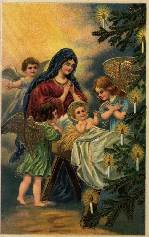Gammelt julekort