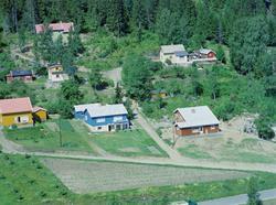 Flyfoto, Lillehammer, Vingnes med  Vingromsvegen nederst til