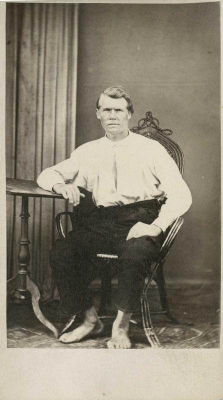 Anders Narvesen Klægstad, Drammen, arrestert i 1868, innsatt i distriktsfengslet i Hokksund for tyveri.