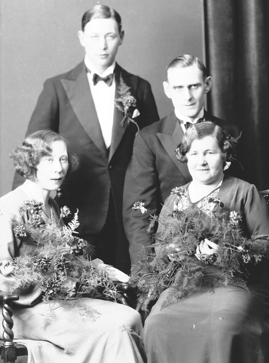 Brudparen Ekström och Oscarsson