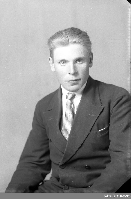 Porträtt av Gerhard Johansson ifrån Jakobsborg.
