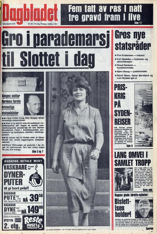 Dagbladet  1981 (Foto/Photo)